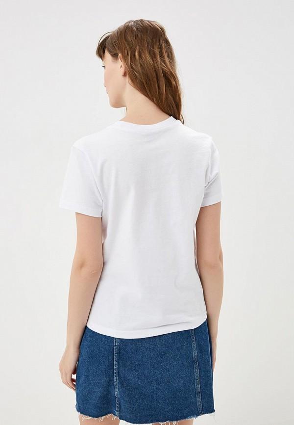 Фото 3 - женскую футболку Vans белого цвета