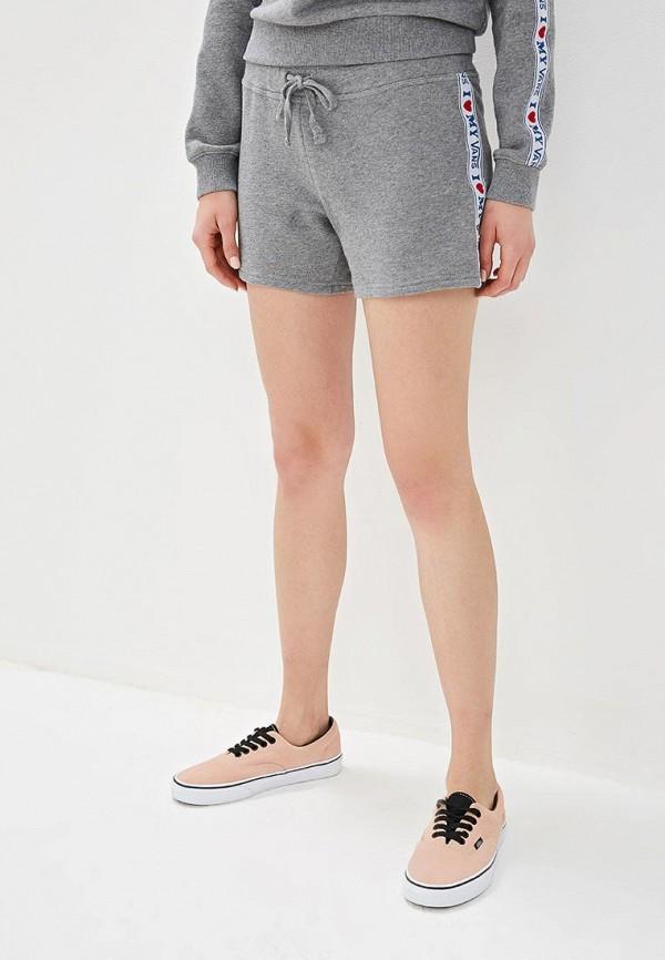 женские спортивные шорты vans, серые