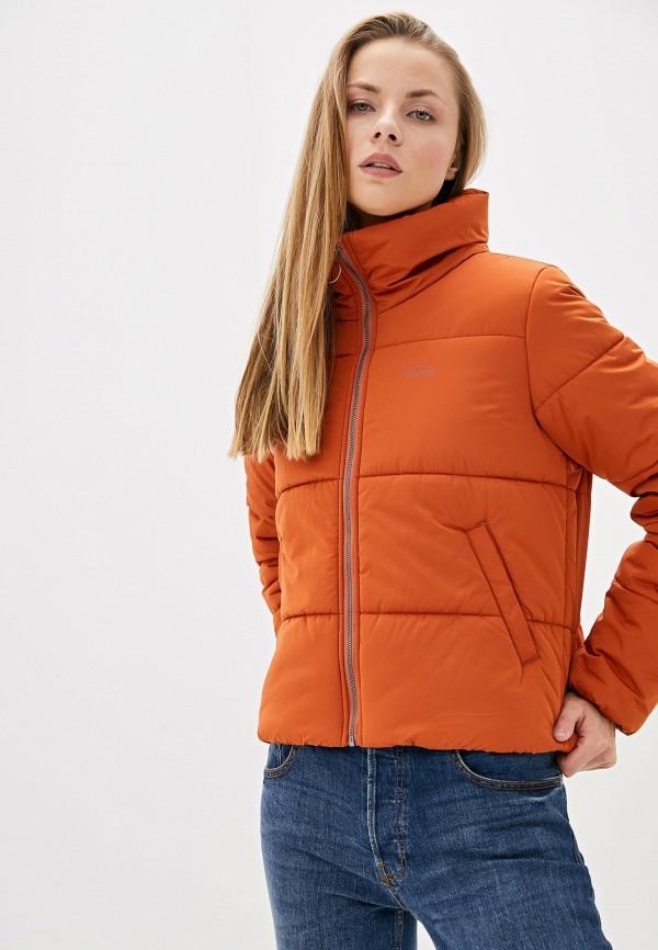 женская куртка vans, оранжевая