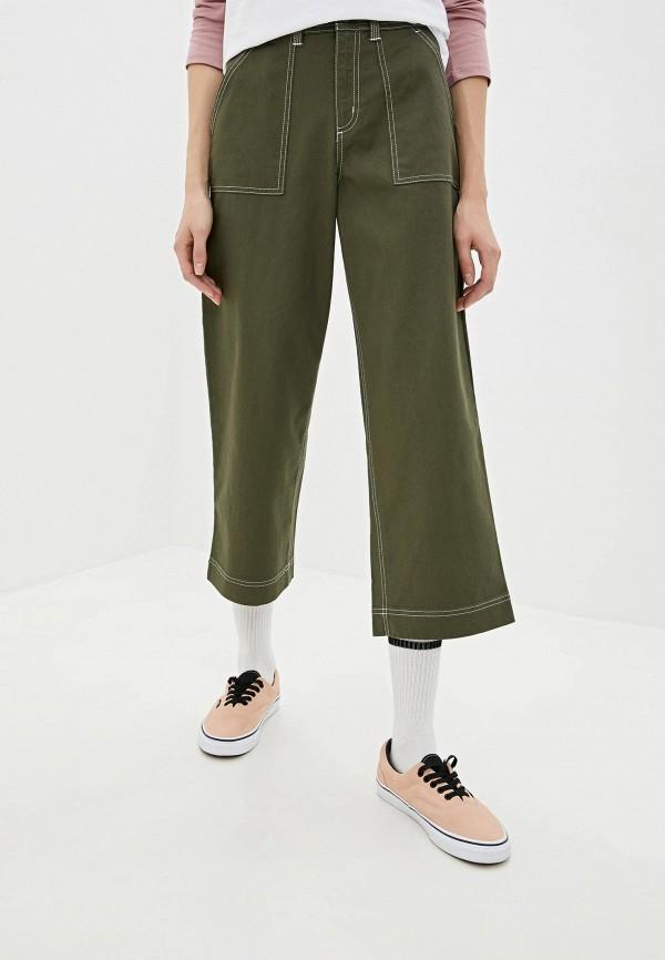 женские спортивные брюки vans, зеленые