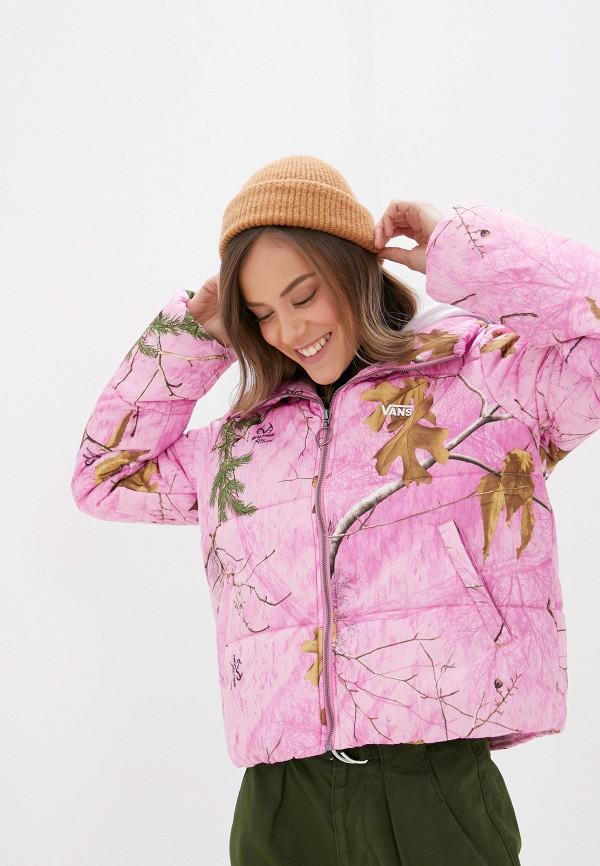 женская куртка vans, розовая