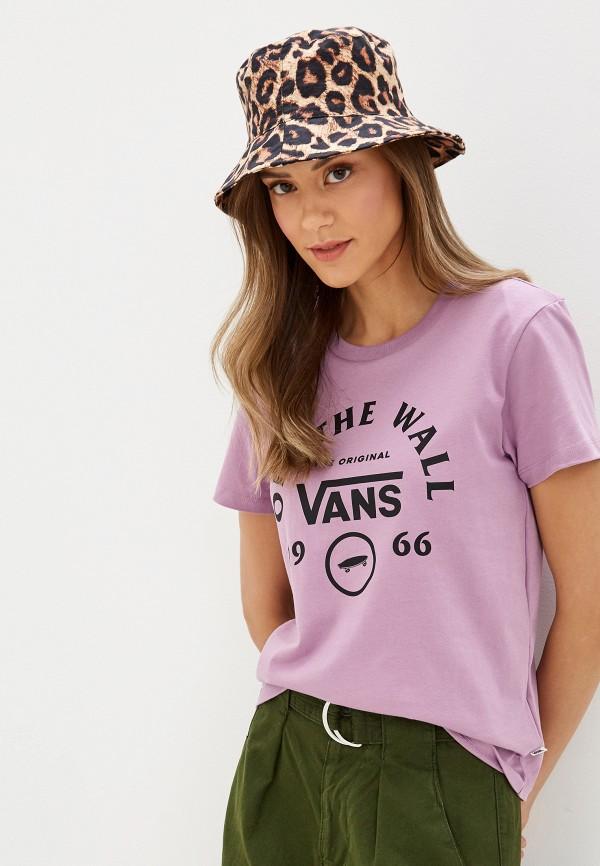 женская спортивные футболка vans, фиолетовая
