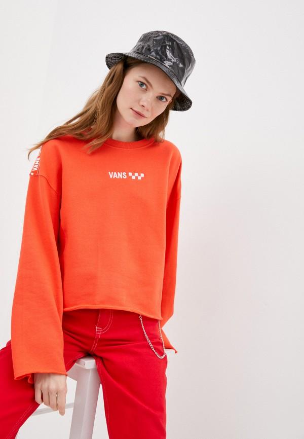 женский свитшот vans, оранжевый