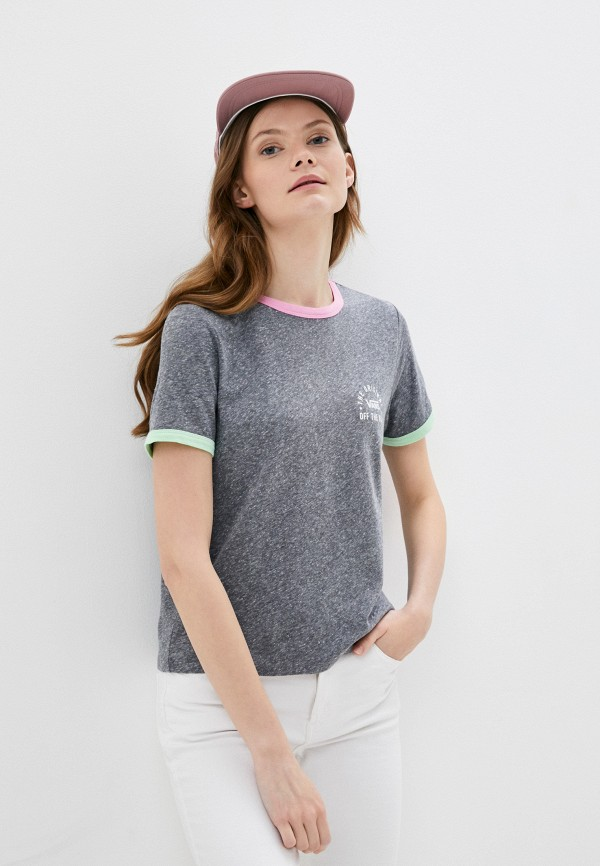 женская спортивные футболка vans, серая