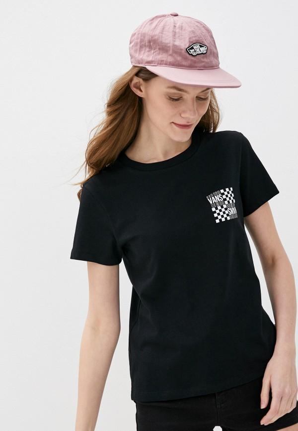 женская спортивные футболка vans, черная