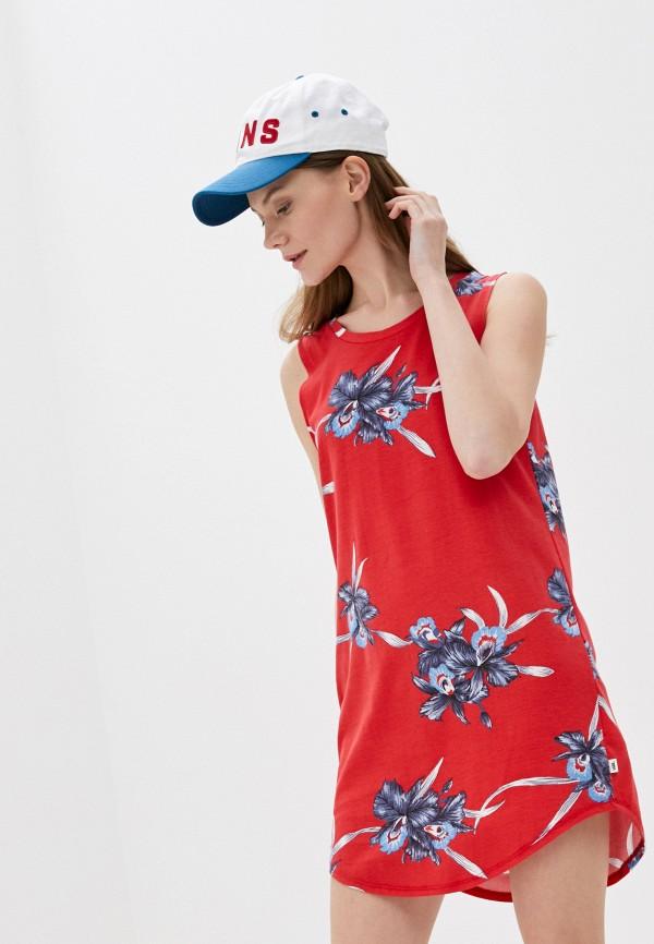женское спортивные платье vans, красное