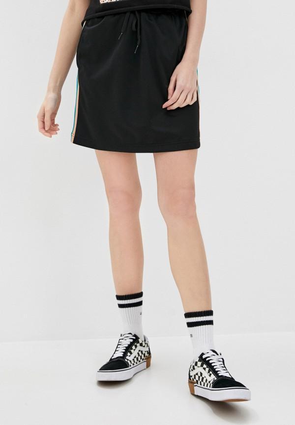 женская прямые юбка vans, черная