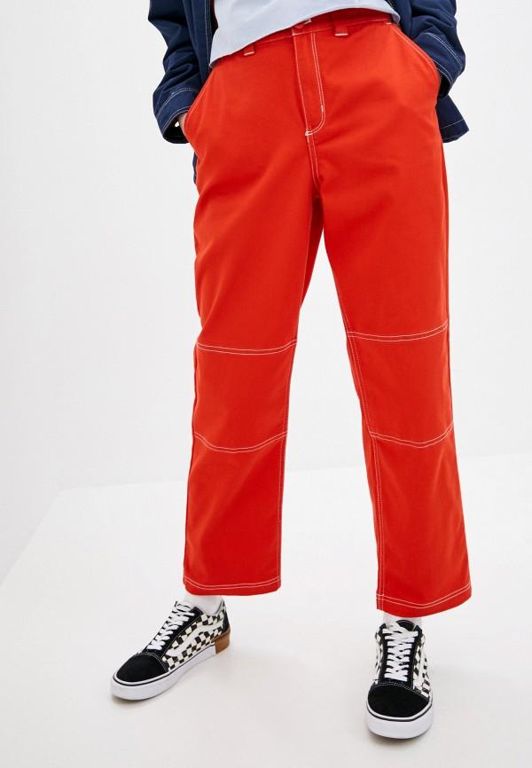 женские повседневные брюки vans, красные