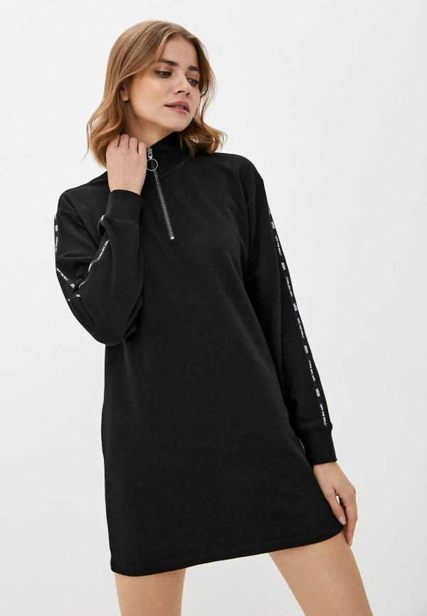 женское спортивные платье vans, черное