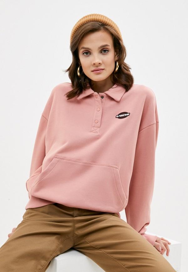 женский свитшот vans, розовый