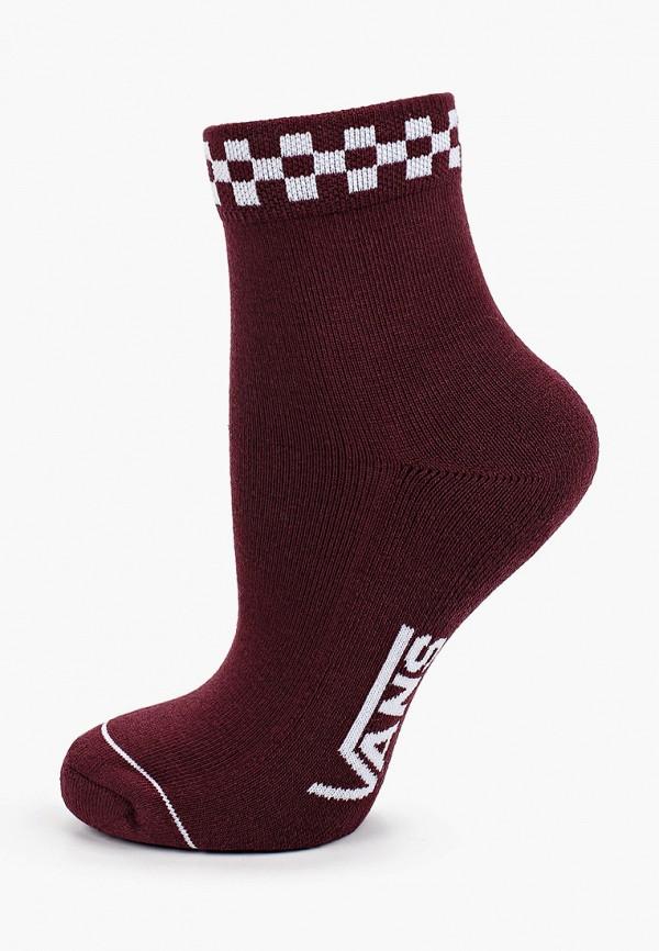 женские носки vans, бордовые
