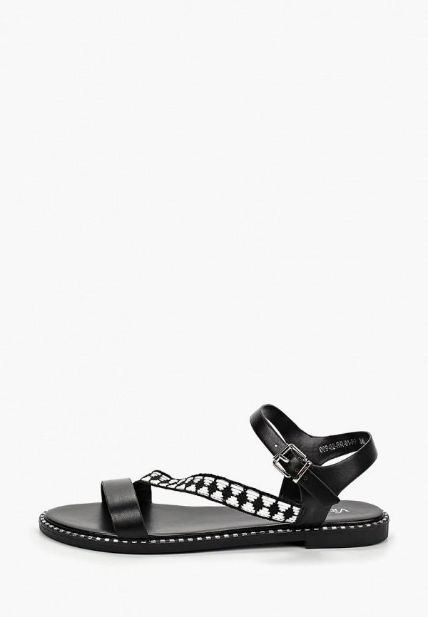 женские сандалии velvet, черные