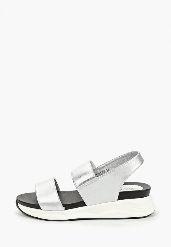 женские сандалии velvet, серебряные