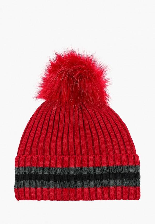 женская шапка venera, красная