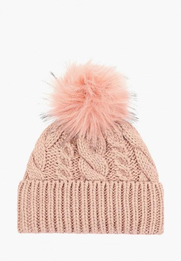 женская шапка venera, розовая