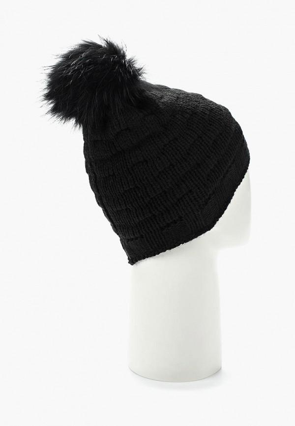 Фото 8 - женскую шапку Venera черного цвета