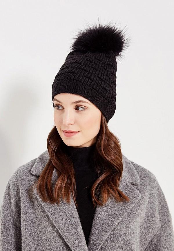 Фото 5 - женскую шапку Venera черного цвета