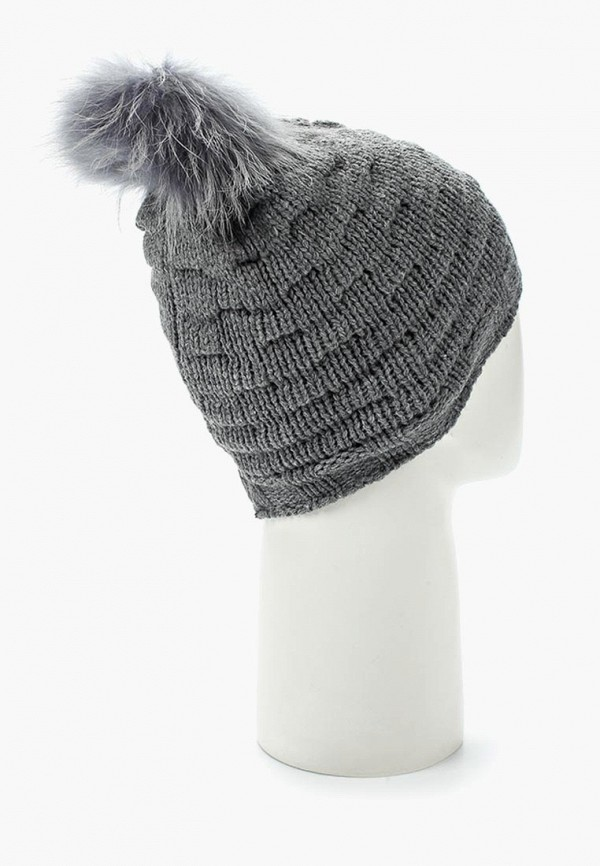 Фото 3 - женскую шапку Venera серого цвета