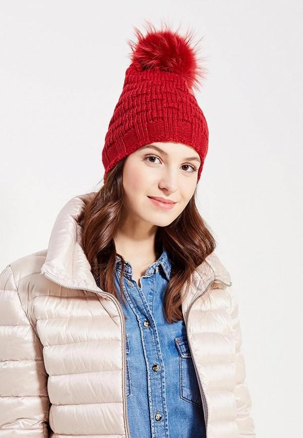Фото 5 - женскую шапку Venera красного цвета