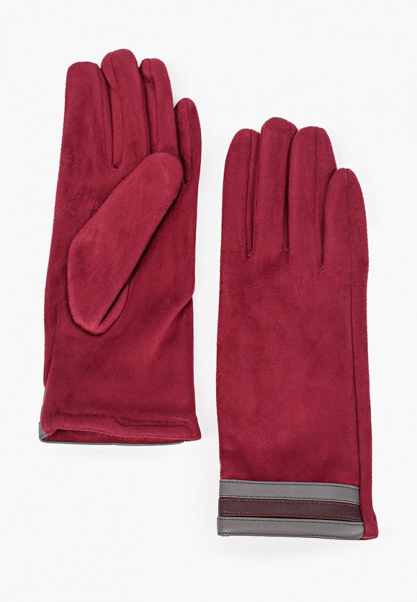 женские перчатки venera, бордовые