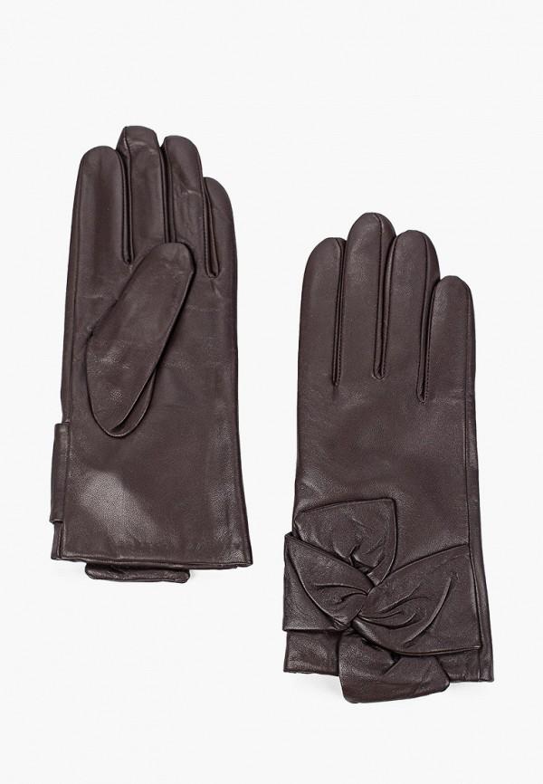 женские перчатки venera, коричневые