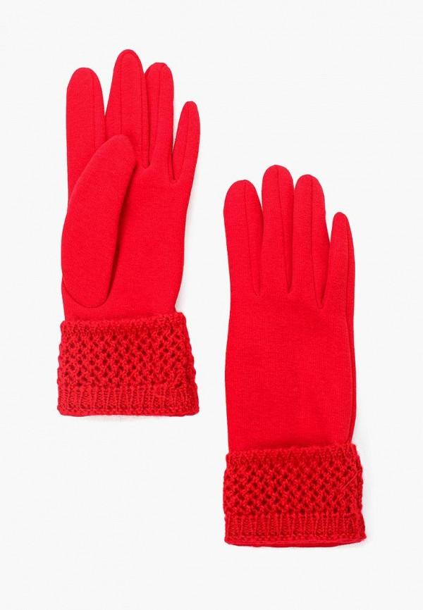 женские перчатки venera, красные