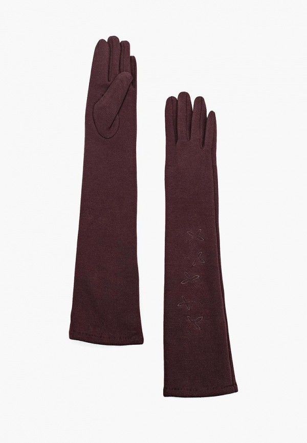 Фото 3 - женские текстильные перчатки Venera коричневого цвета