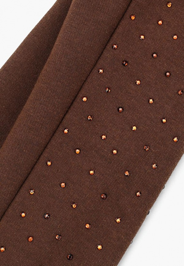 Фото 6 - женские текстильные перчатки Venera коричневого цвета