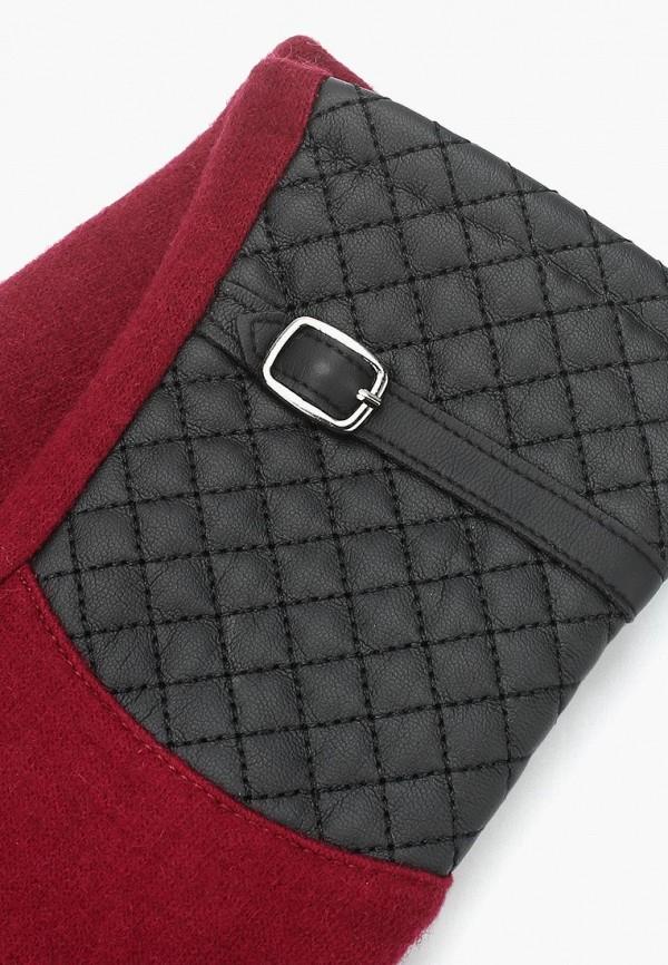 Фото 2 - женские текстильные перчатки Venera бордового цвета