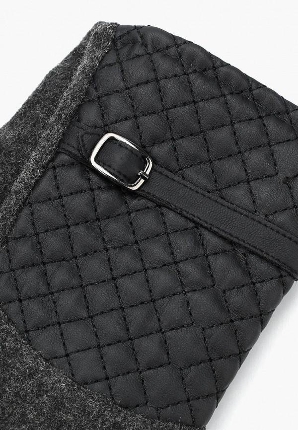 Фото 6 - женские текстильные перчатки Venera серого цвета