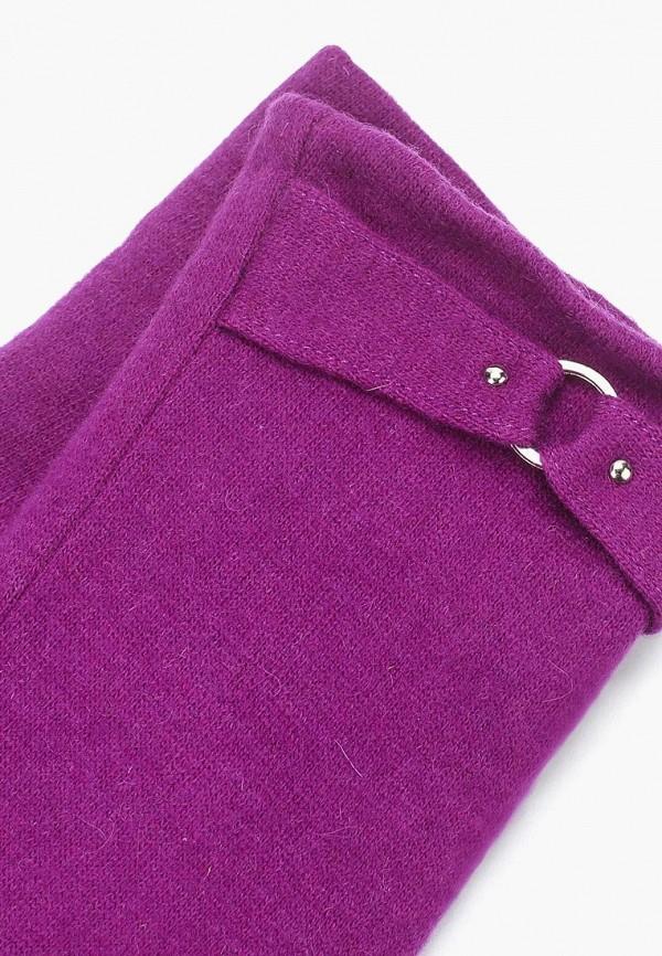 Фото 4 - женские текстильные перчатки Venera фиолетового цвета