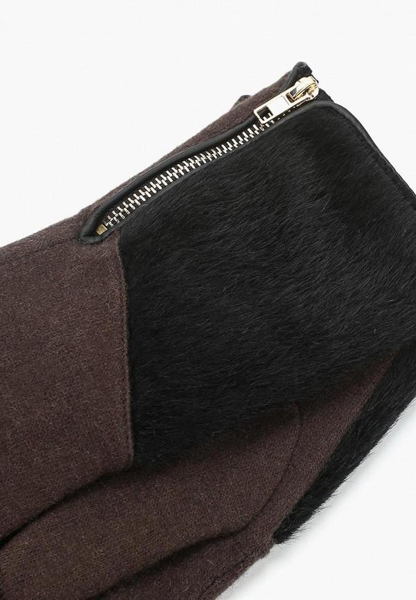 Фото 2 - женские текстильные перчатки Venera коричневого цвета