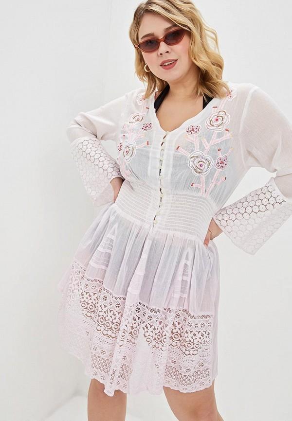женское платье venera, розовое