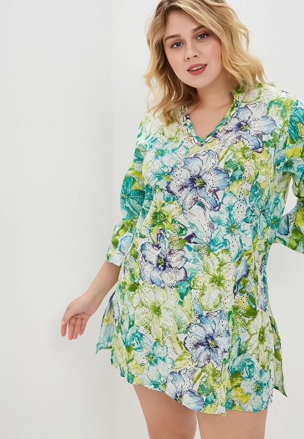 женское платье venera, зеленое