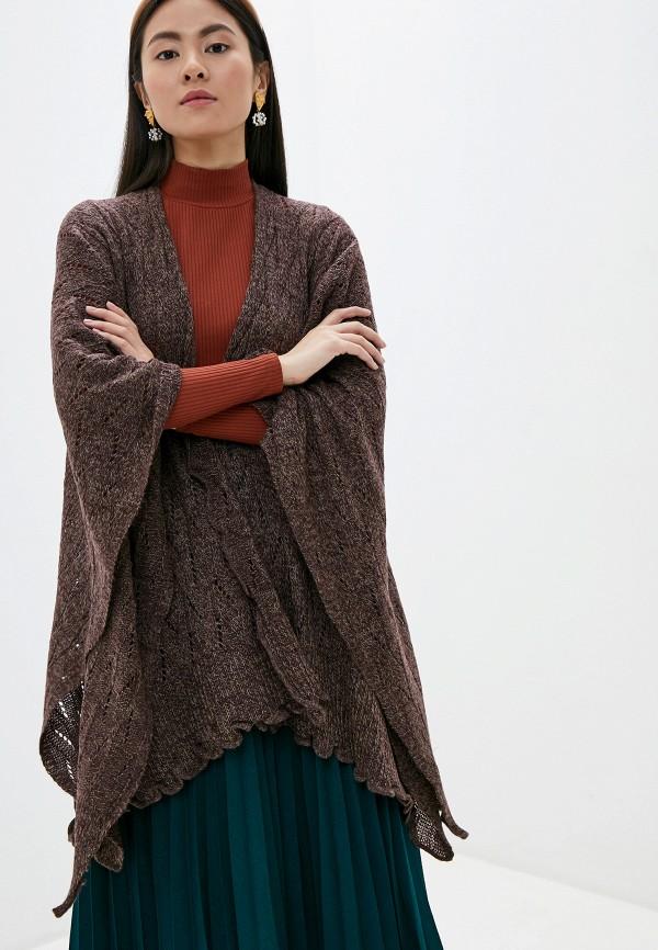 женский кардиган venera, коричневый