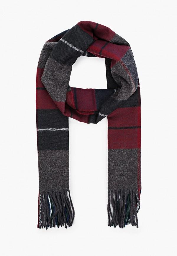 мужской шарф venera, бордовый