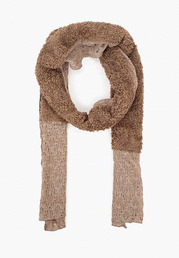женский шарф venera, коричневый