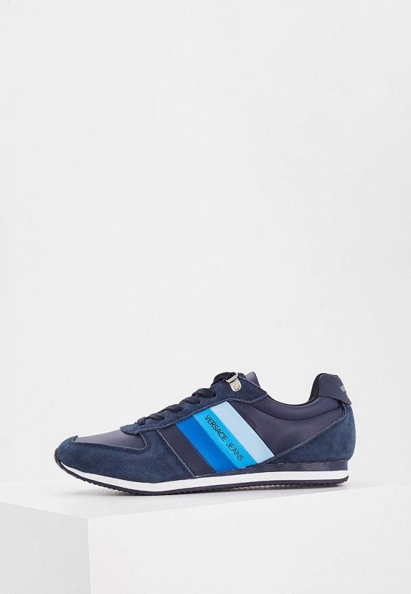 Фото - мужские кроссовки Versace Jeans синего цвета