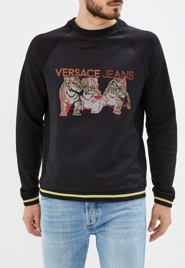 мужской свитшот versace, черный