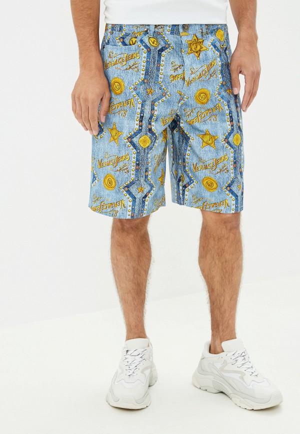 мужские повседневные шорты versace, голубые