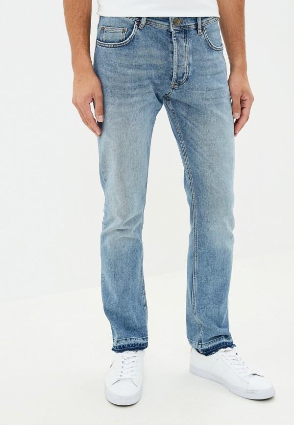 мужские прямые джинсы versace, голубые
