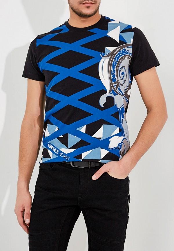 Фото - мужскую футболку Versace Jeans черного цвета