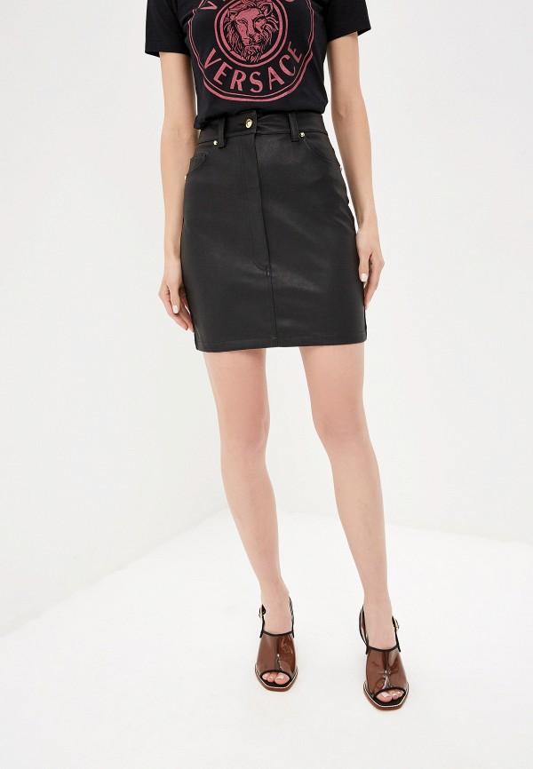 женская юбка versace, черная