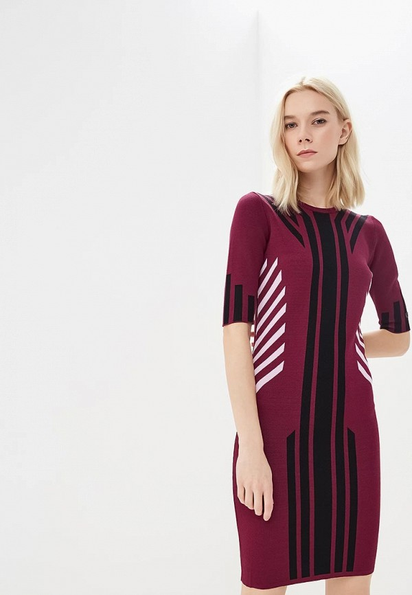 женское платье versace, бордовое