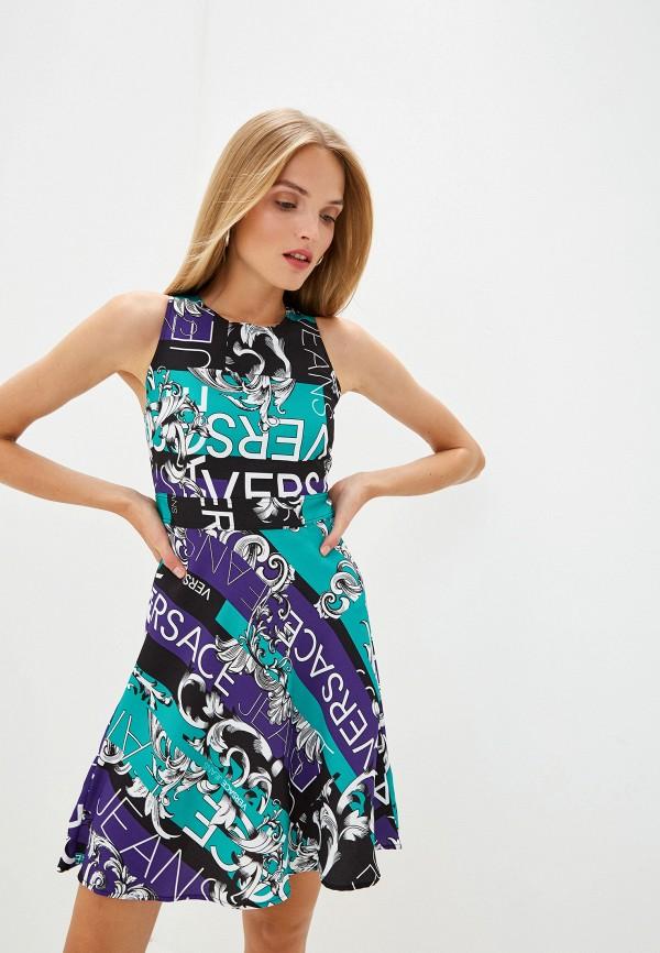Платье Versace Jeans Versace Jeans VE006EWEUKY4 босоножки versace jeans versace jeans ve006awahjx9