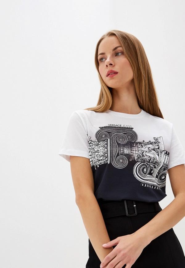 женская футболка versace, разноцветная