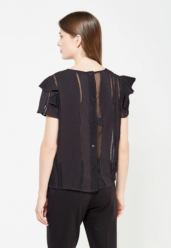 Фото 3 - Блузу Versace Jeans черного цвета