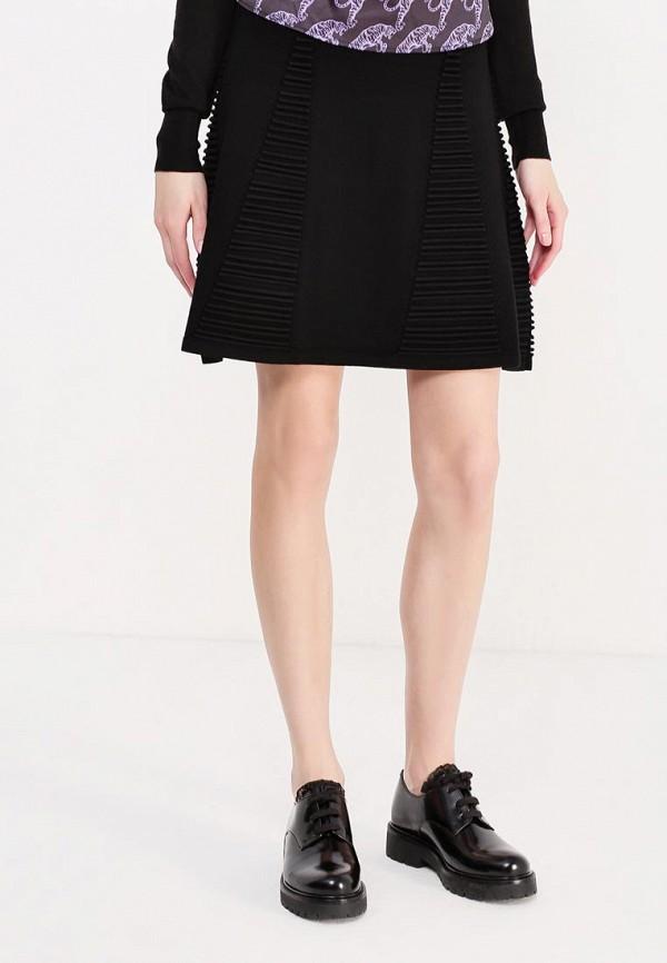 мужская юбка мини versace, черная