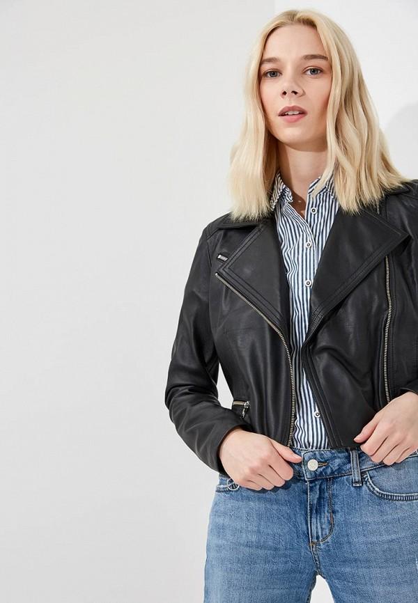 Куртка кожаная Versace Jeans Versace Jeans VE006EWZIB26 цена и фото
