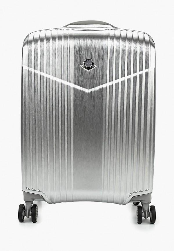 женский чемодан verage, серебряный
